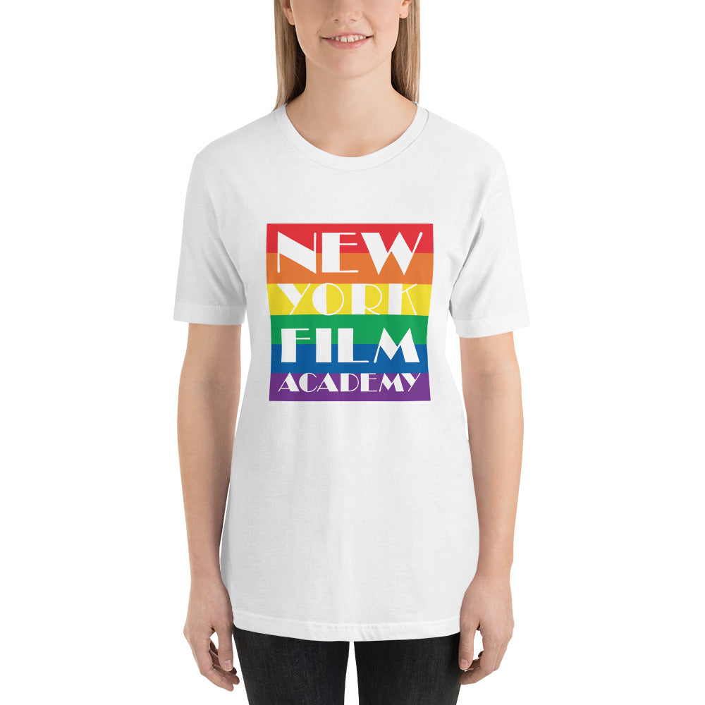 NYFA Pride Month Short-Sleeve T-Shirt - Rainbow Background - Women's