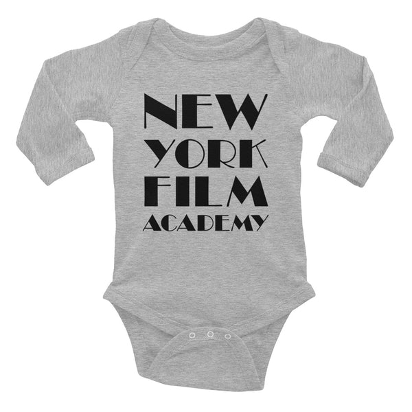 NYFA Infant Long Sleeve Bodysuit in Heather Grey