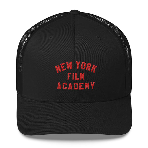 NYFA Retro Trucker Cap - Black & Red