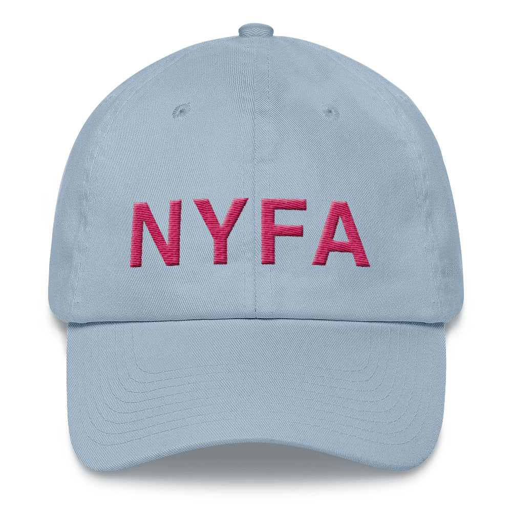 Cap with NYFA Embroidery - Soft Blue & Raspberry