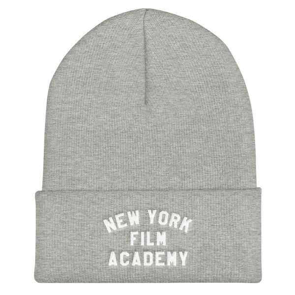 NYFA Cuffed Beanie - Heather Grey & White