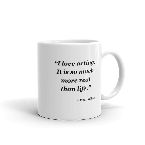 NYFA Mug with Oscar Wilde Quote - White
