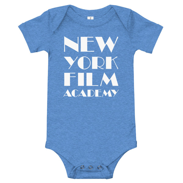 NYFA Infant Short Sleeve Bodysuit in Soft Blue
