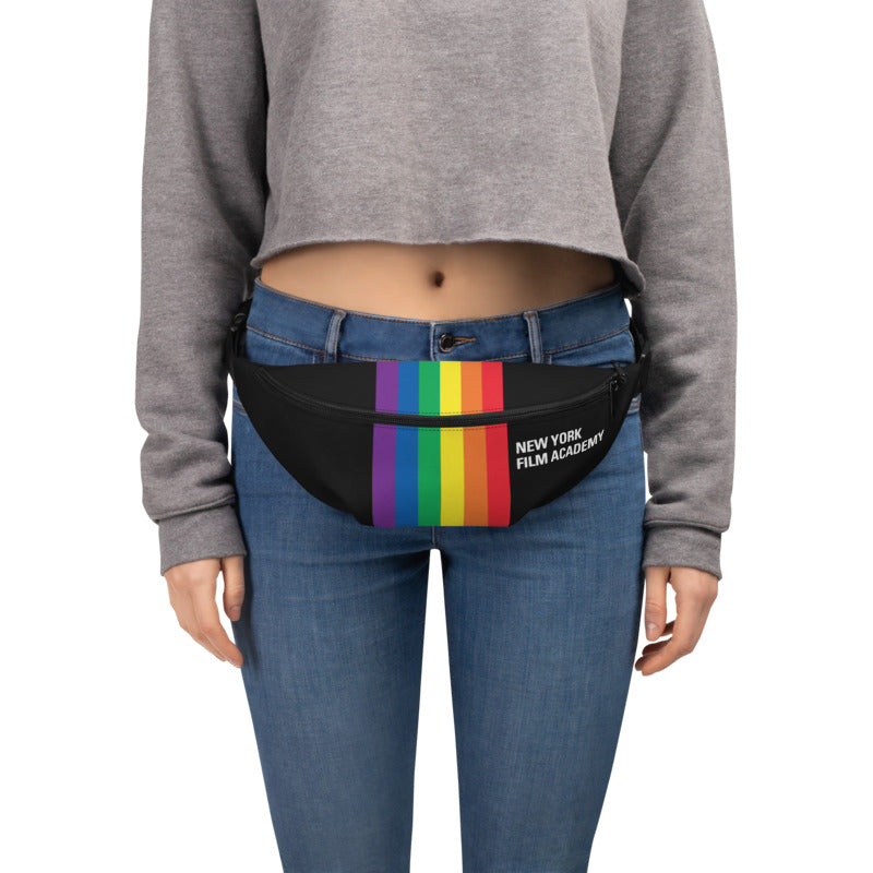 NYFA Pride Month Fanny Pack - Rainbow and Black