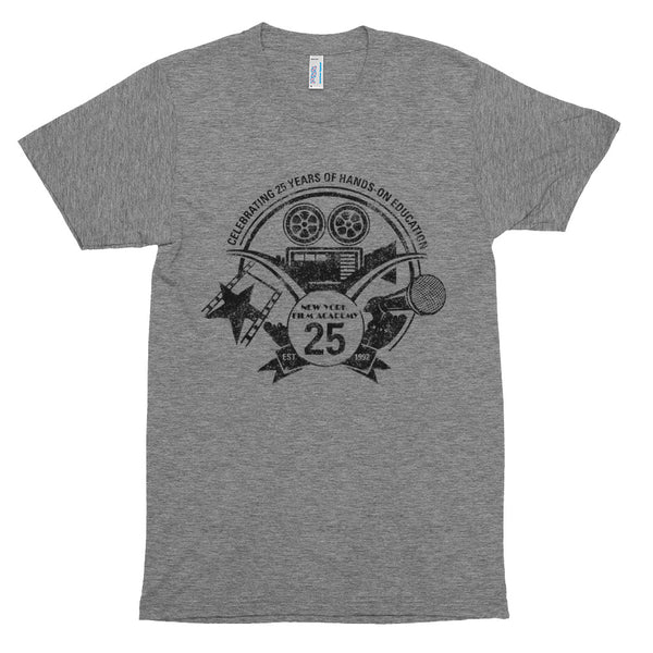 Limited Edition 25th Year NYFA T-Shirt - Vintage Heather Grey & Distressed Black Logo