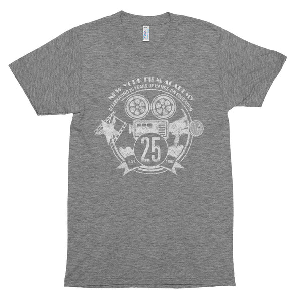 Limited Edition 25th Year NYFA T-Shirt - Vintage Heather Grey & Distressed White Logo