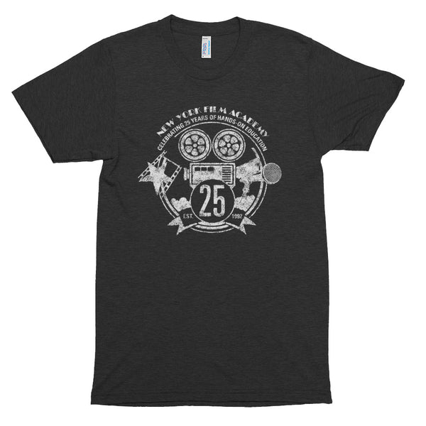 Limited Edition 25th Year NYFA T-Shirt - Vintage Heather Charcoal & Distressed White Logo