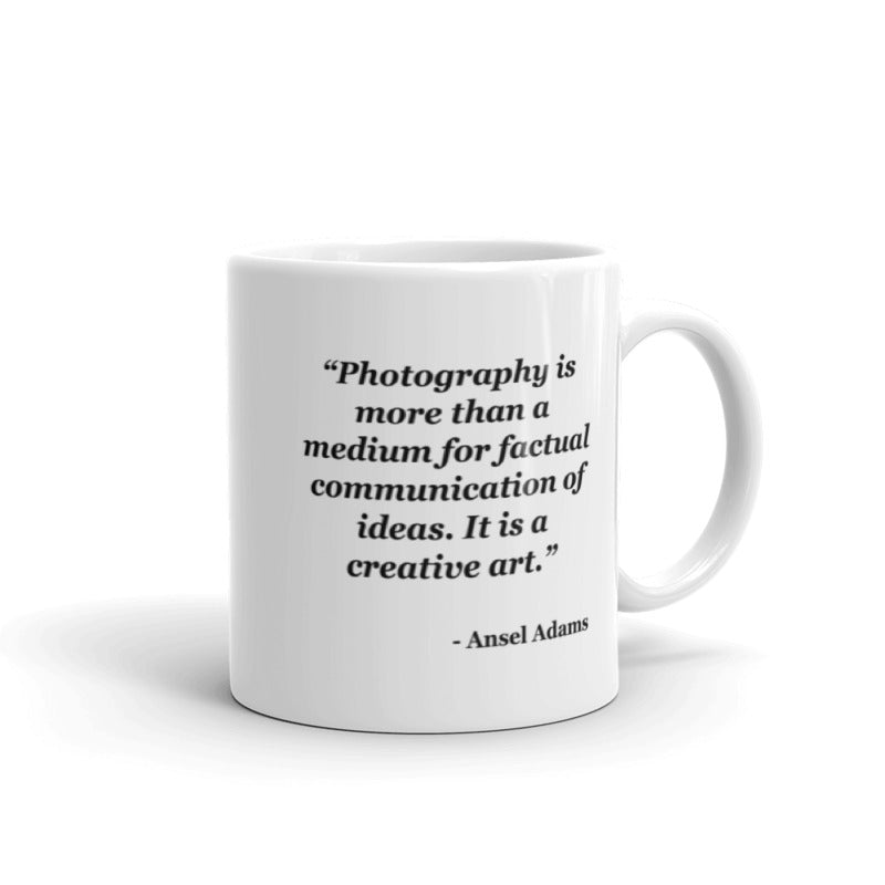 NYFA Mug with Ansel Adams Quote - White