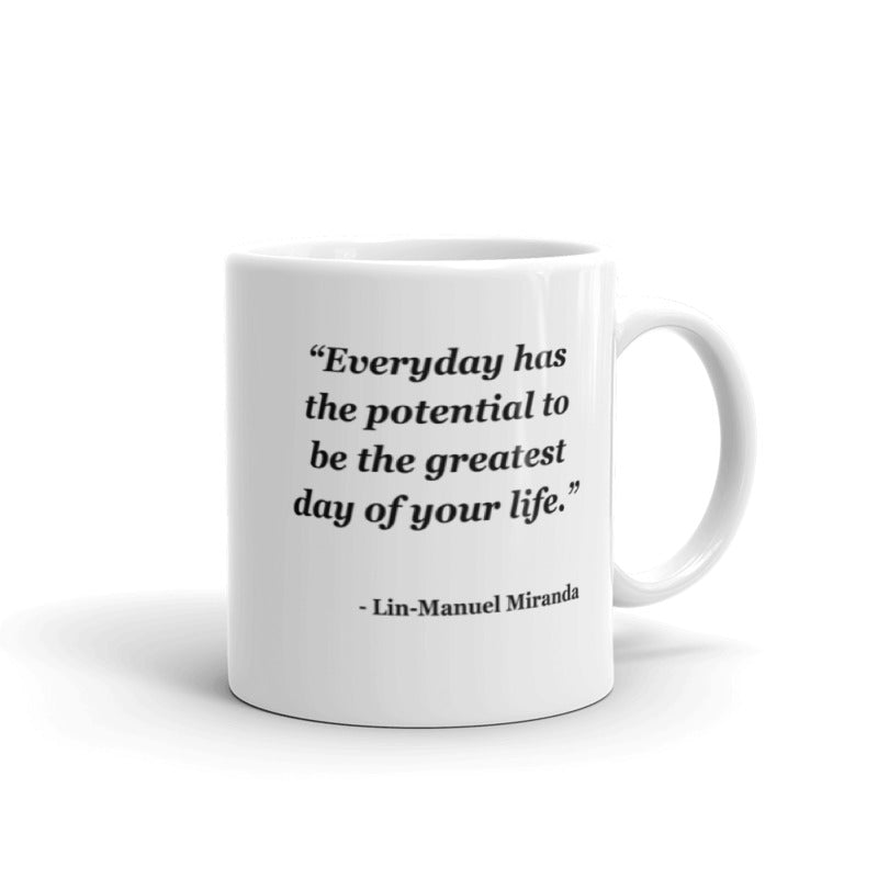 NYFA Mug with Lin-Manuel Miranda Quote - White