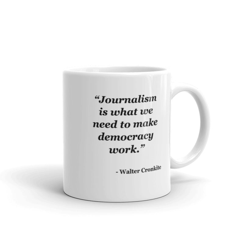 NYFA Mug with Walter Cronkite Quote - White
