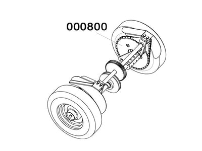 000800 - Self-propelled wheels Assy