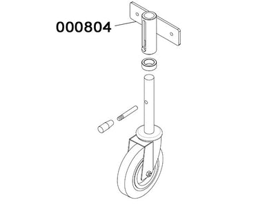 000804 - Revolving wheel support