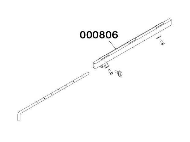 000806 - Tubular support rod