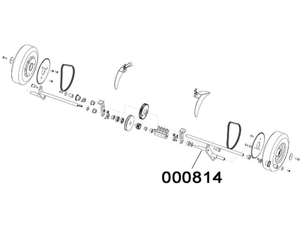 000814 - Wheel support lever Assembly