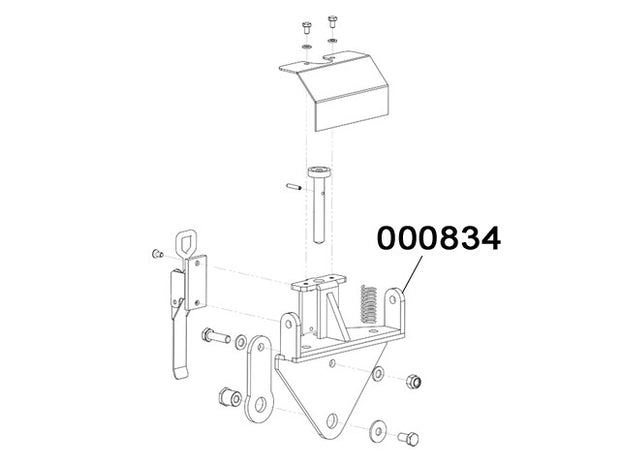 000834 - Revolving handle support As.