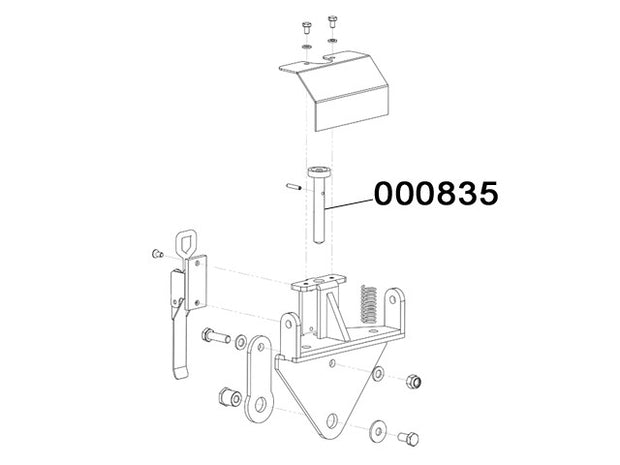 000835 - Revolving handle support pin