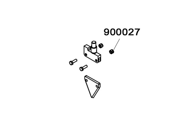 900027 - Self-lock nut M8