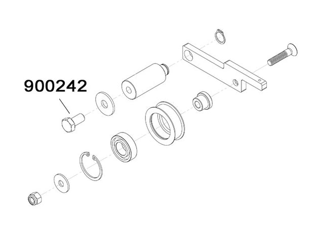 900242 - Screw TE M10x20