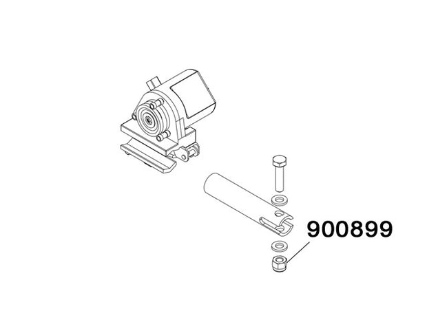 900899 - Self lock nut M6 low