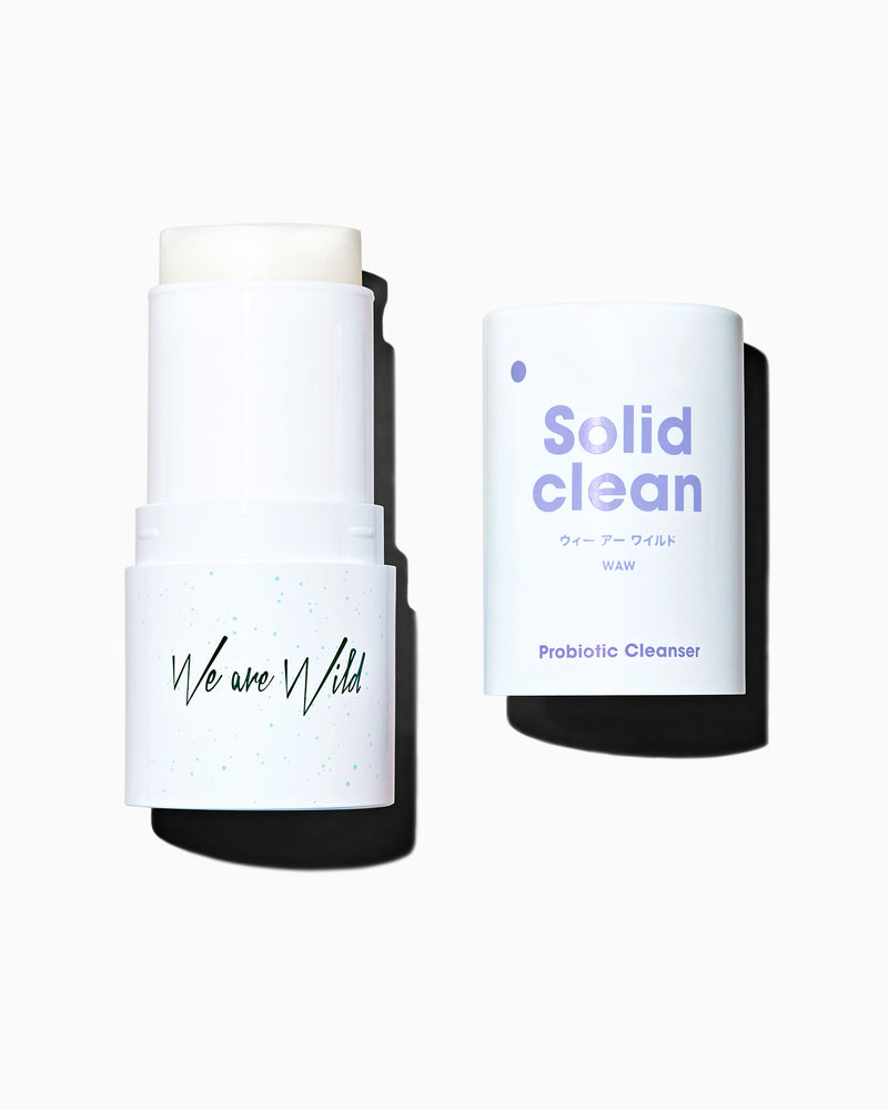Solid Clean Probiotic Cleanser - This ultimate 3-in-1 facial cleanser