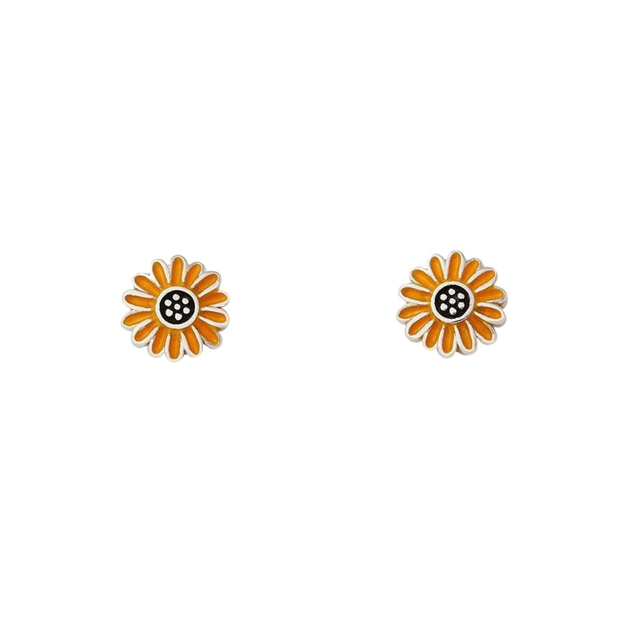【新品上市-限時5折】Pura Vida | 美國手工 ENAMEL SUNFLOWER 向日葵純銀耳環