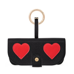 【新款上市-預購06/10出貨】IPHORIA | Glasses Case Hearts Black