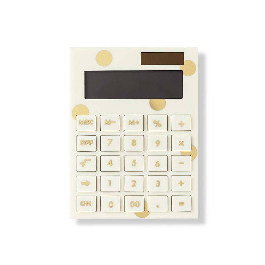 【新品上市-限時88折】kate spade | 經典金典時尚計算機 Acrylic Calculator, Gold Dot