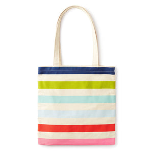 kate spade | 炫彩條紋多功能帆布袋 Canvas Book Tote, Candy Stripe