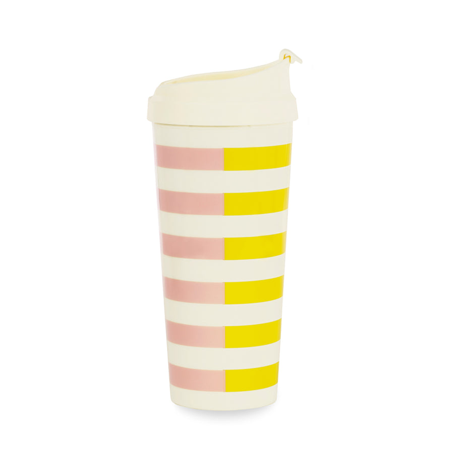 【限時88折】kate spade | 條紋撞色冷飲杯 Thermal Mug, Two-tone Stripe