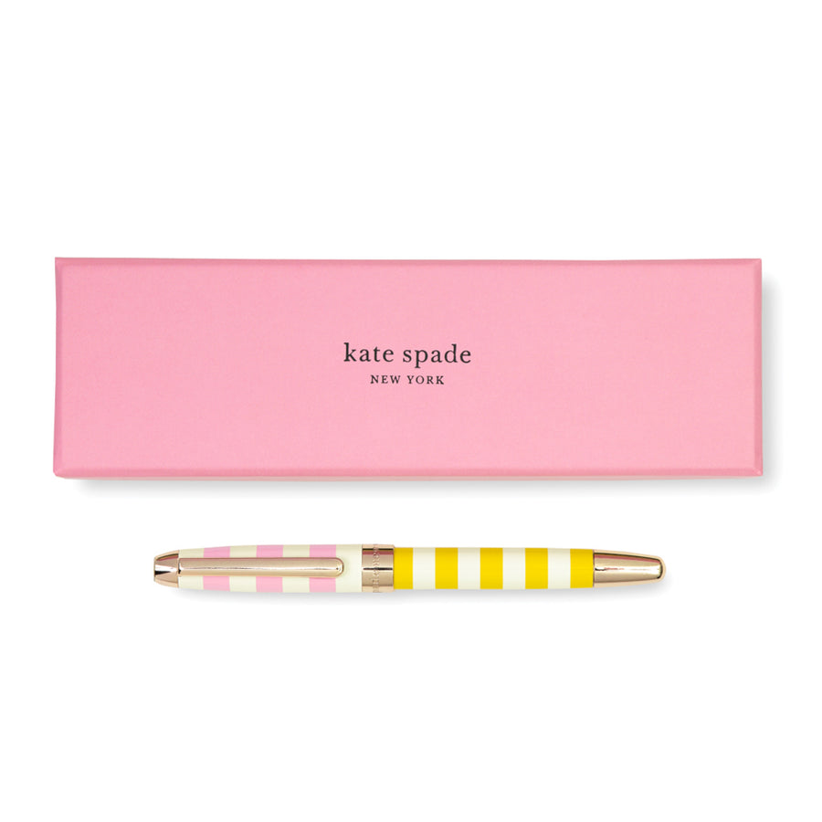 【Xmas限時88折】kate spade | 條紋撞色精裝圓珠筆禮盒 Ballpoint Pen, Two-tone Stripe