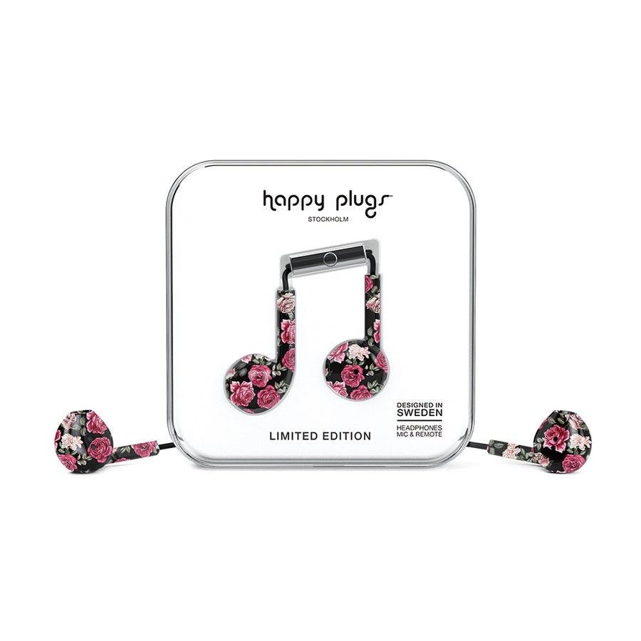 HAPPY PLUGS_Earbud Plus 極致耳塞式耳機-Vintage Roses玫瑰懷舊情
