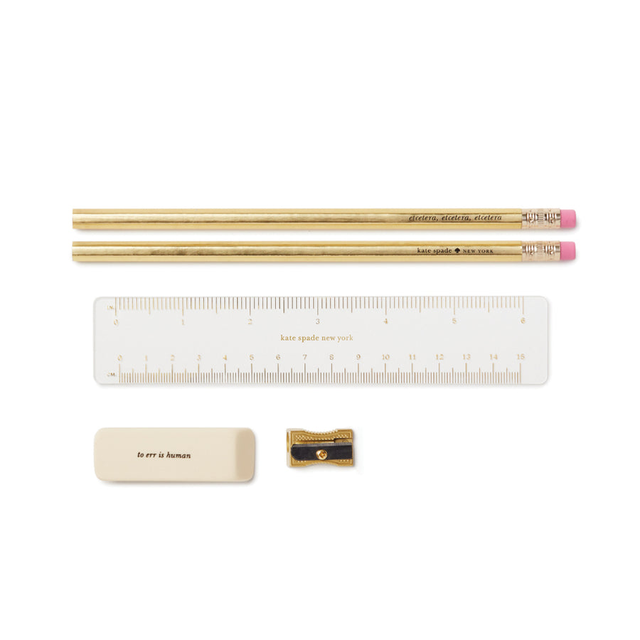 kate spade | 唇唇欲動紅印皮革筆袋 Pencil Case -Lips