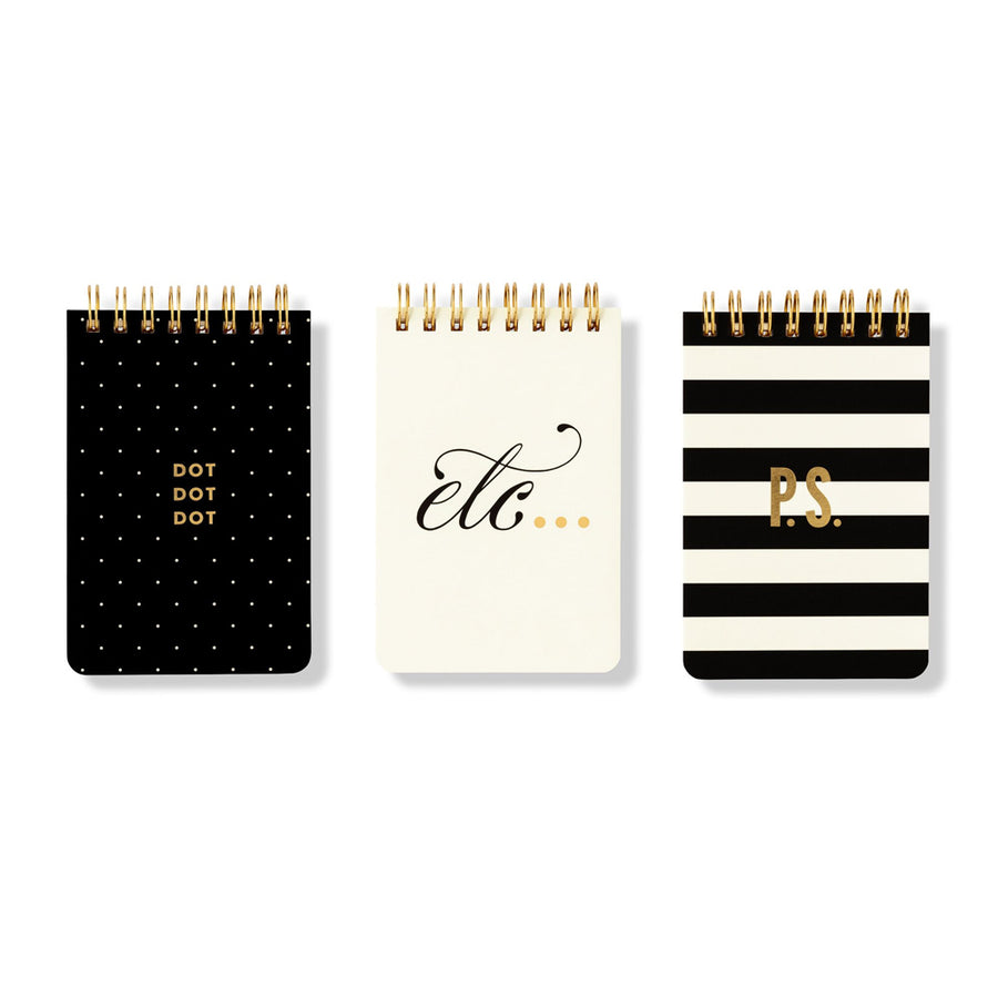 【Xmas限時88折】kate spade | 迷你簡約線圈筆記本3入組 Mini Spiral Set of 3 Notebooks -etc.