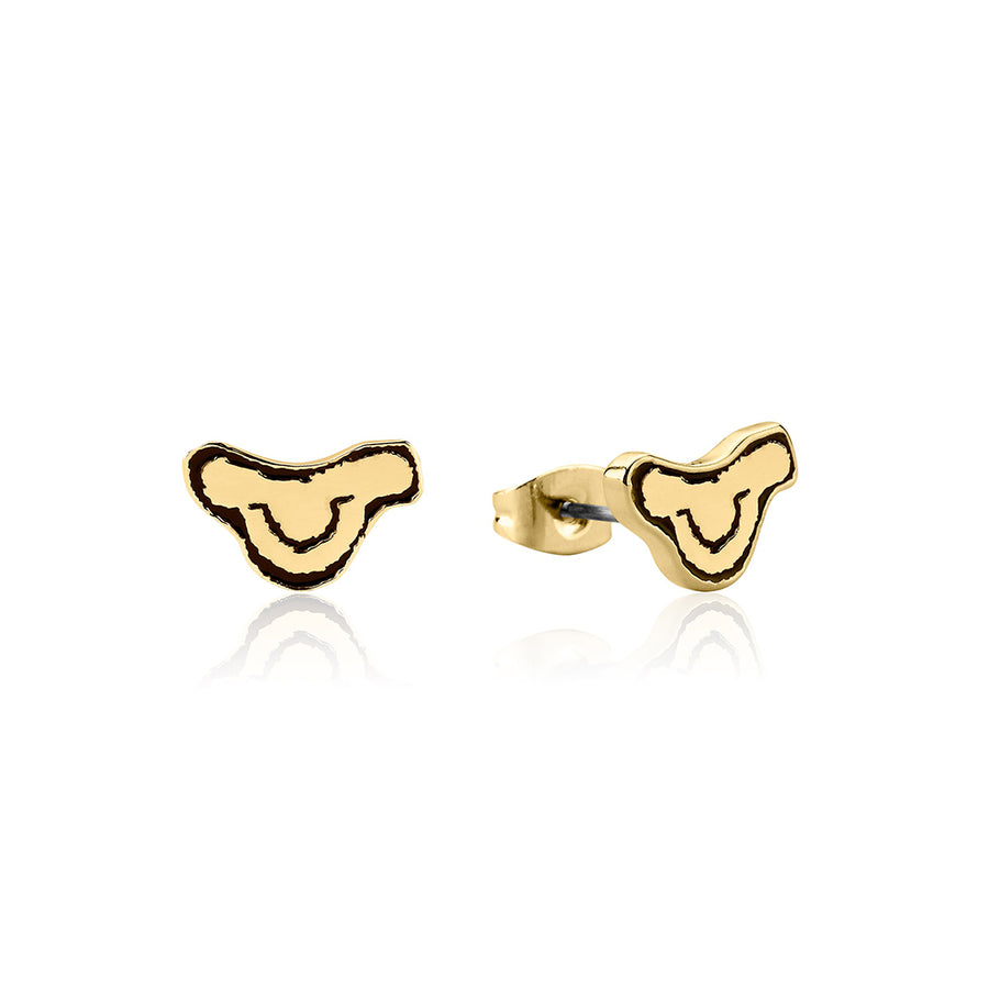 【補貨中】Couture Kingdom | Disney Jewellery 迪士尼獅子王辛巴琺瑯鍍14K金耳釘The Lion King Simba Head Stud Earrings