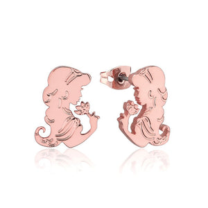 【補貨中】Couture Kingdom | Disney Jewellery 迪士尼阿拉丁茉莉公主鍍14K玫瑰金耳釘 Aladdin Princess Jasmine Earrings