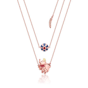 【限時9折】Couture Kingdom | Disney Jewellery 迪士尼小飛象馬戲團鍍14K玫瑰金雙項鍊 Dumbo Circus Ball Necklace
