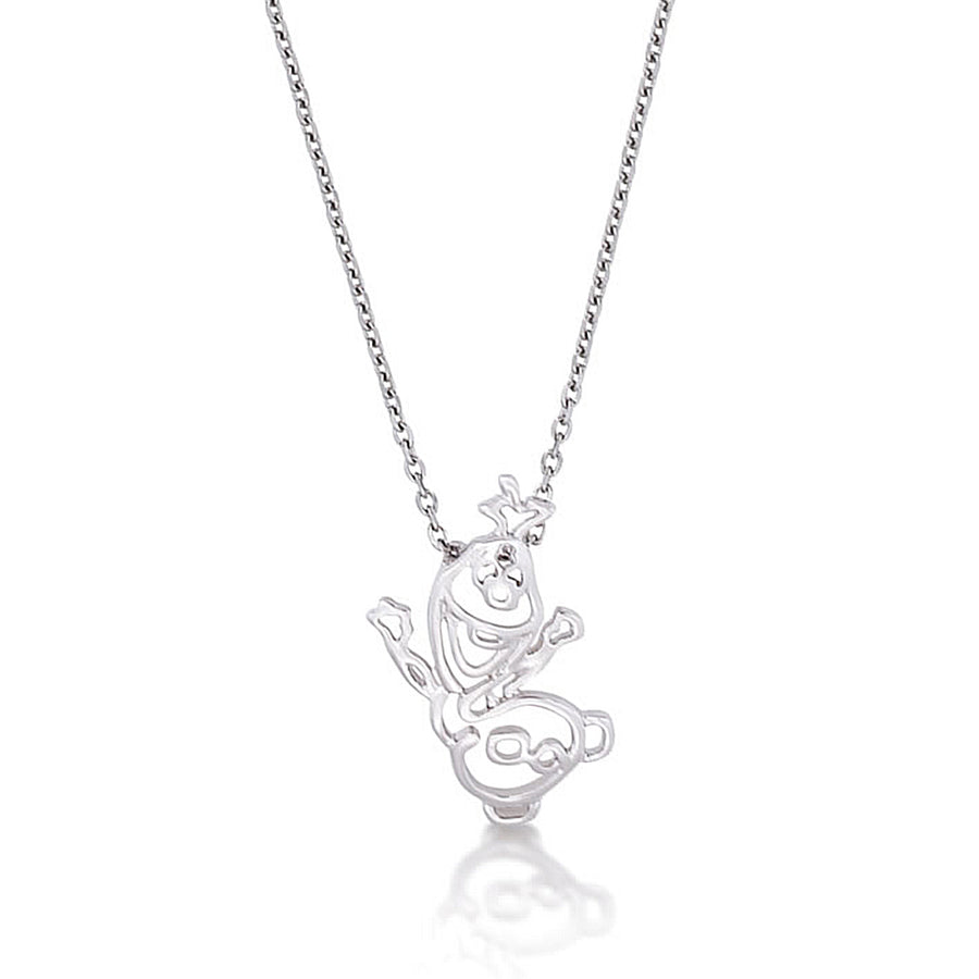 【補貨中】Couture Kingdom | DISNEY JEWELLERY 迪士尼冰雪奇緣雪寶鏤空項鍊 Frozen Olaf Outline Necklace