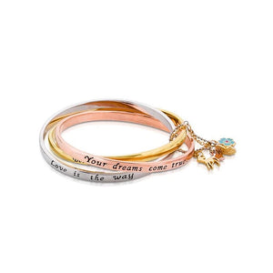 【新品上市】Couture Kingdom | Disney Jewellery 迪士尼小鹿斑比 層次墜飾鍍14K金手環 Bambi Bangle