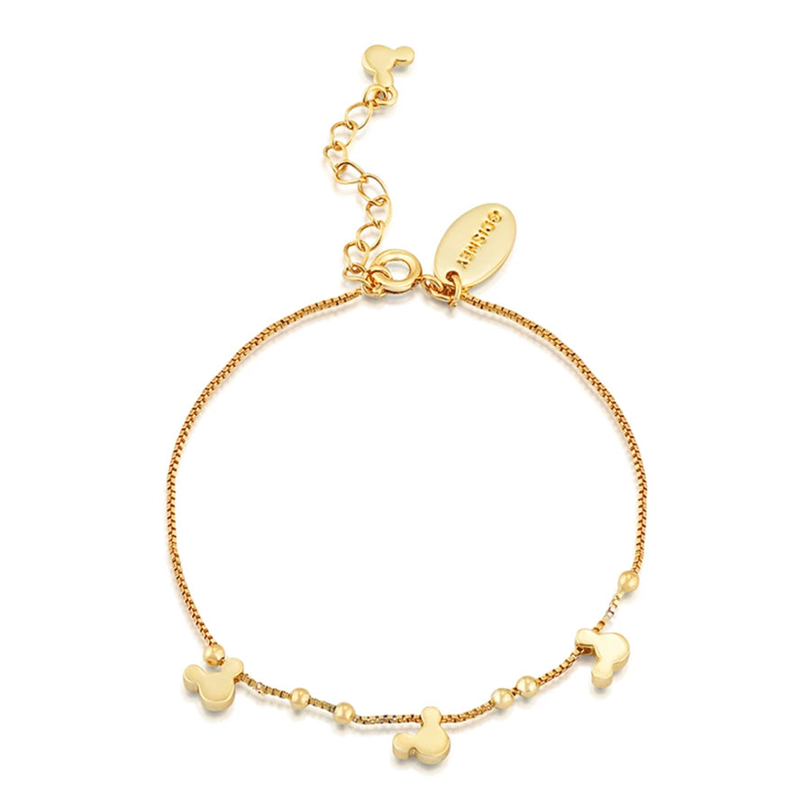 【補貨中-新品上市】Couture Kingdom | Disney Jewellery 迪士尼 米奇經典款鍍14K金手鍊 Disney Mickey Mouse Bracelet