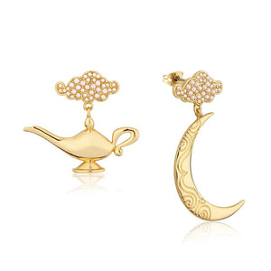 Couture Kingdom | Disney Jewellery 迪士尼阿拉丁神燈鍍14K金耳環 Aladdin Genie Lamp Earrings