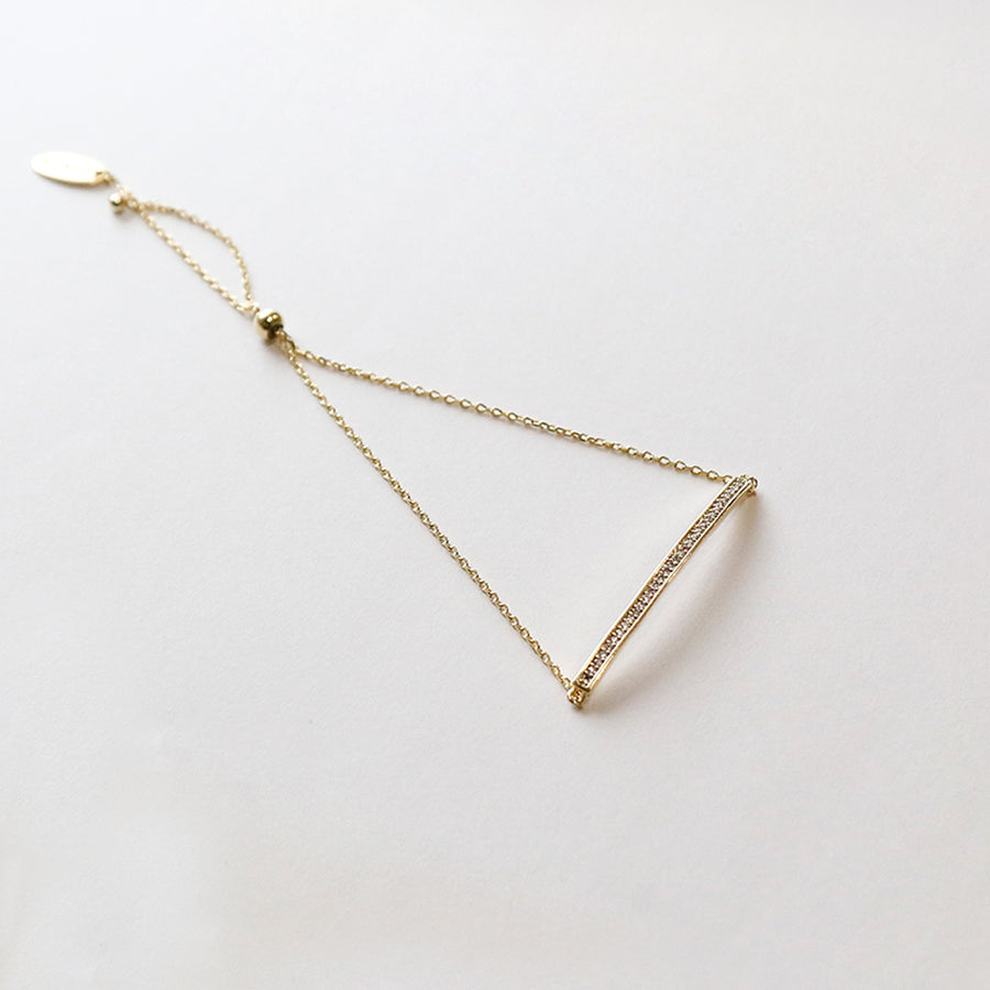 Orelia | GOLD PLATED CRYSTAL BAR ADJUSTABLE BRACELET 鍍金水晶條細緻手鍊