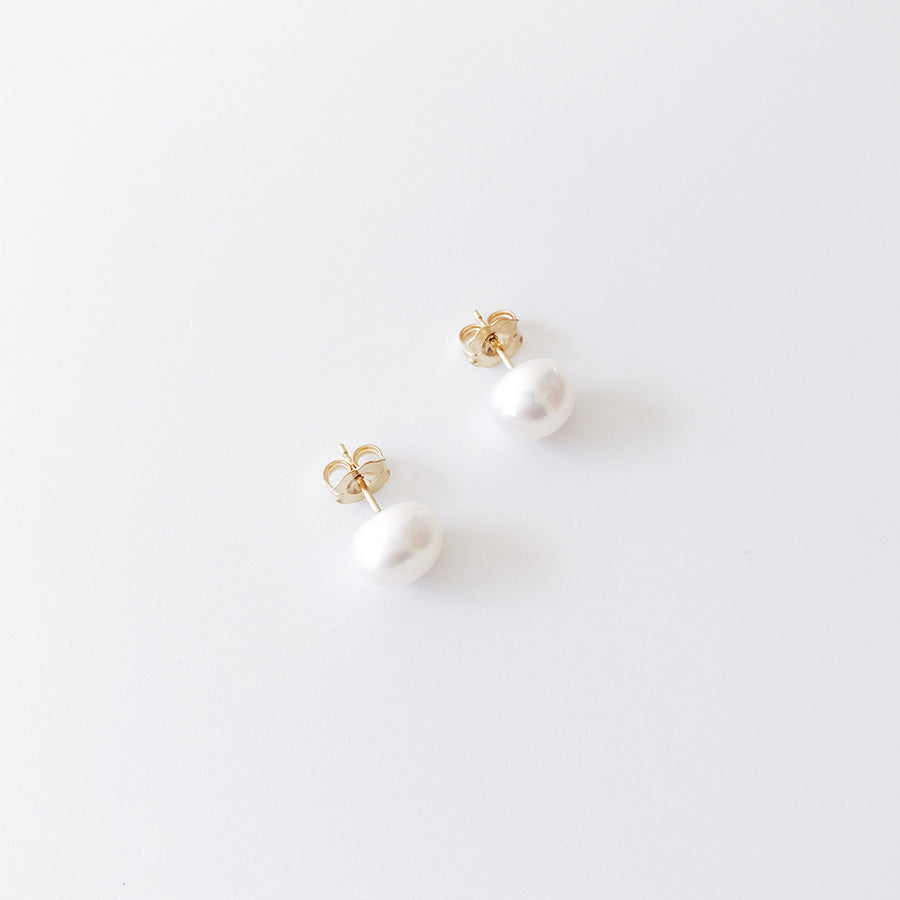 【限時9折-下單兩週出貨】LESIS | Pearl Earrings (Yellow Gold)