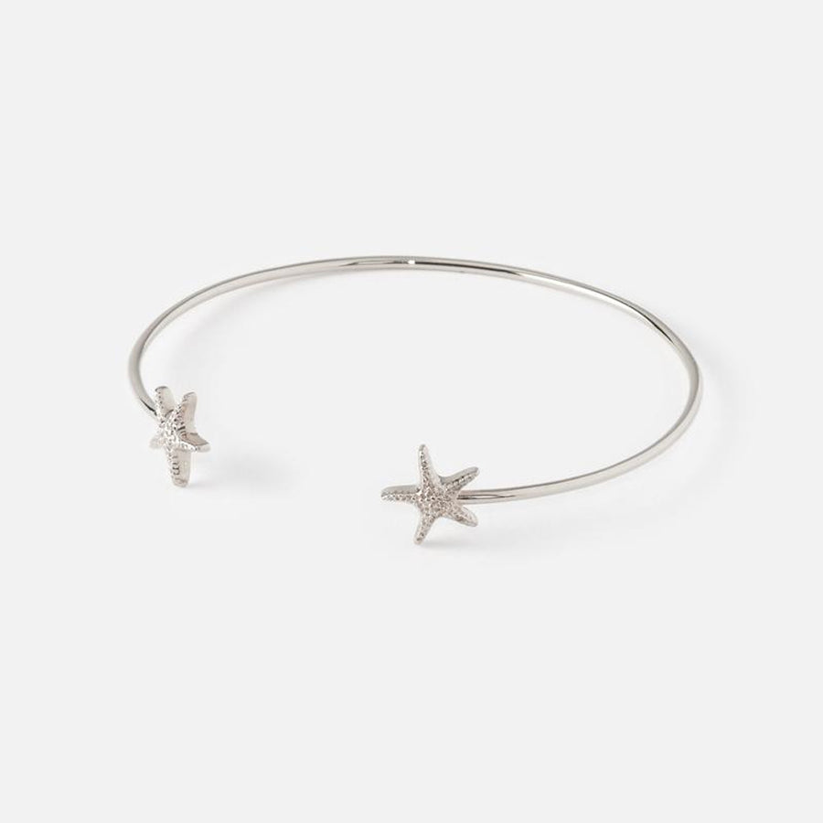 【補貨中】Orelia | STARFISH OPEN BANGLE 夏戀海星銀色開口手環