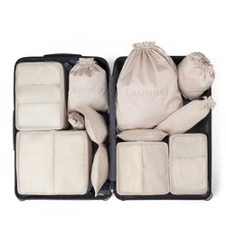 packing organizer set for suitcase