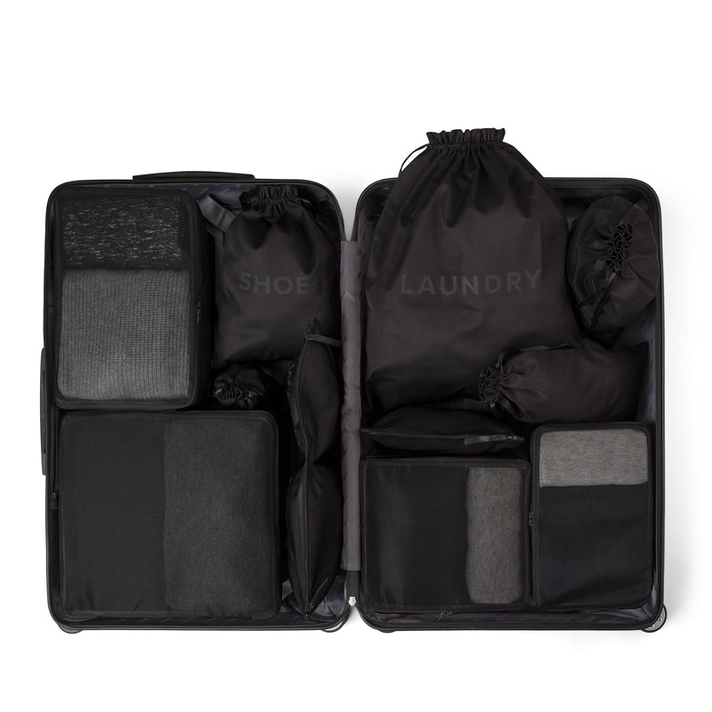 black packing organizer set