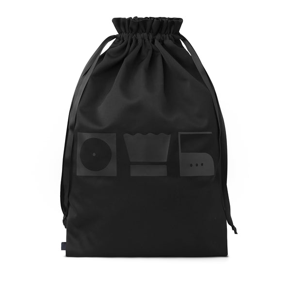 black laundry bag