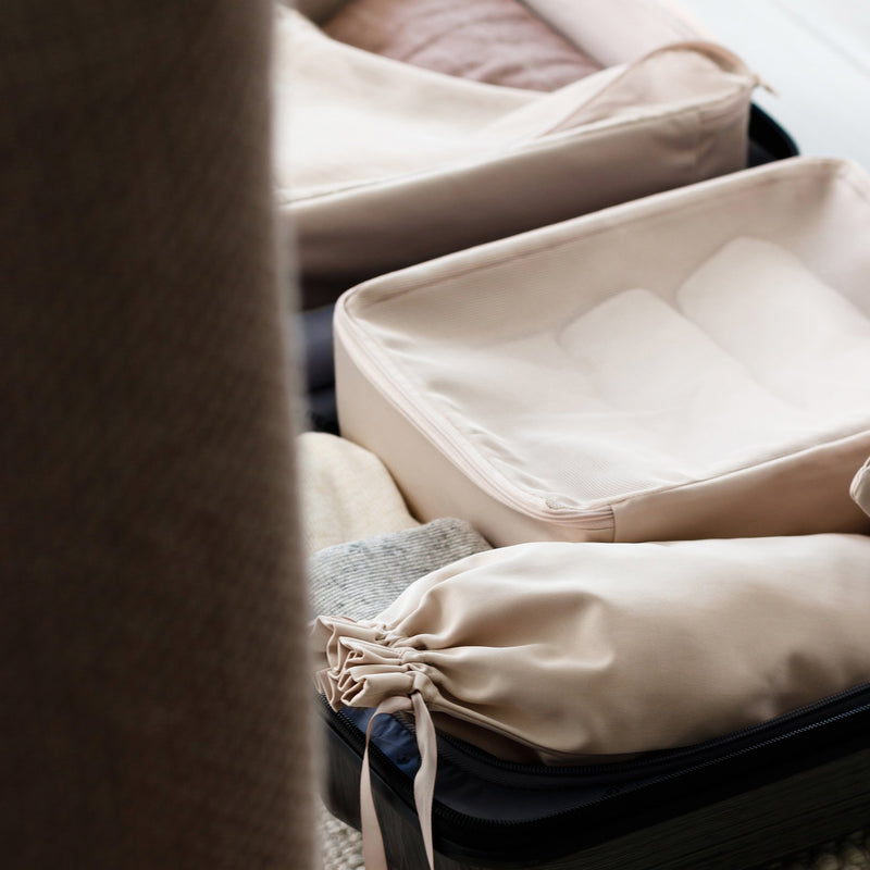 the best packing organizers in beige