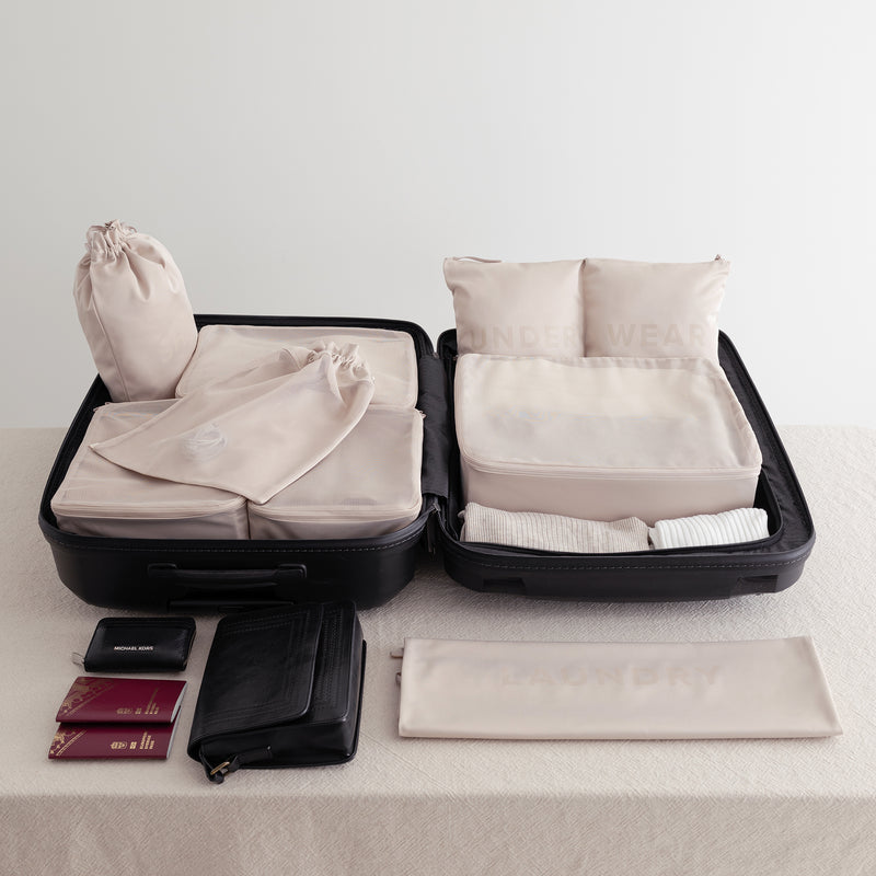 minimalistic design packing organizers