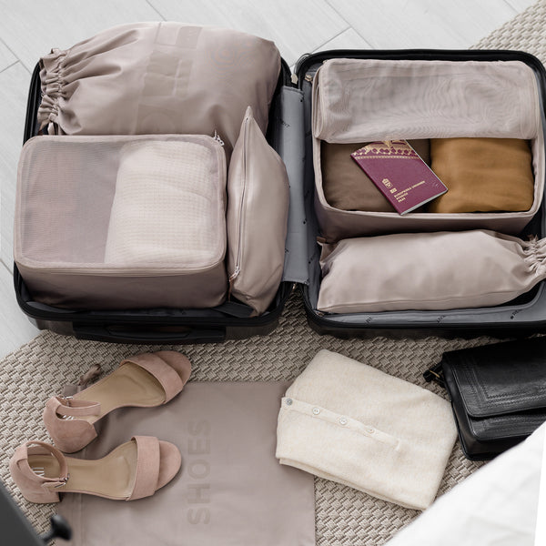 LAUNDRY TRAVEL BAG TAUPE L