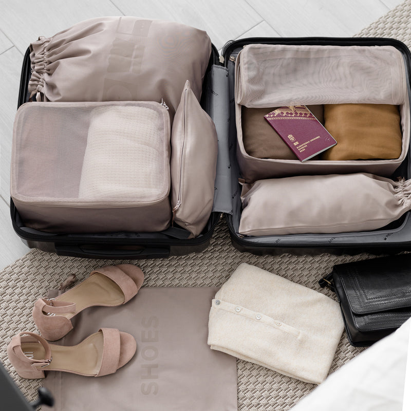 small travel bags for sandals and electronics